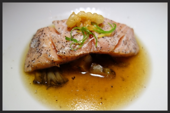 Anita Lo's Slow Cooked Wild King Salmon  | Foodable Network