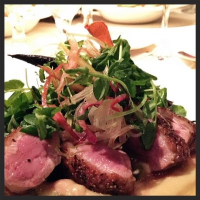 Duck breast with apple purée from Abacus | Yelp, Kate C.