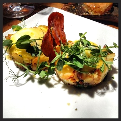 Eggs Benedict at Marc Forgione  | Yelp, Israel S.