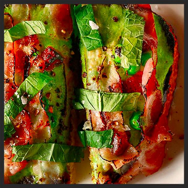 Peas & bacon toast | Instagram, Vernick Philly