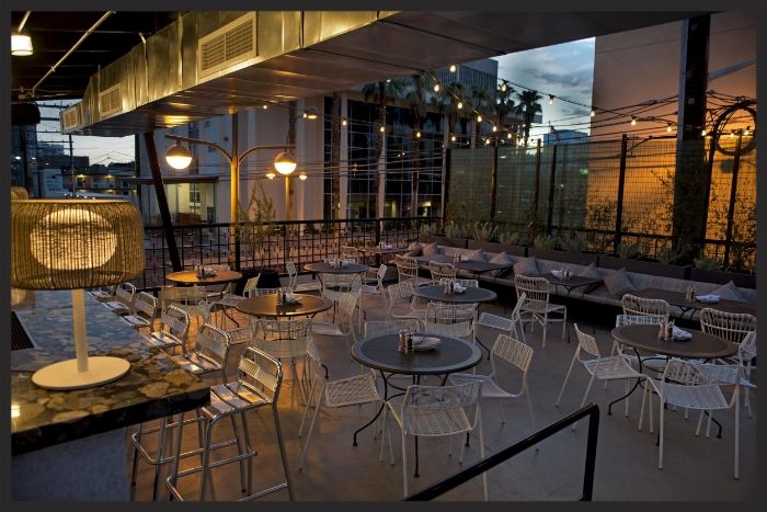 Carson Kitchen's Rooftop Patio  | Courtesy of Peter Harastay