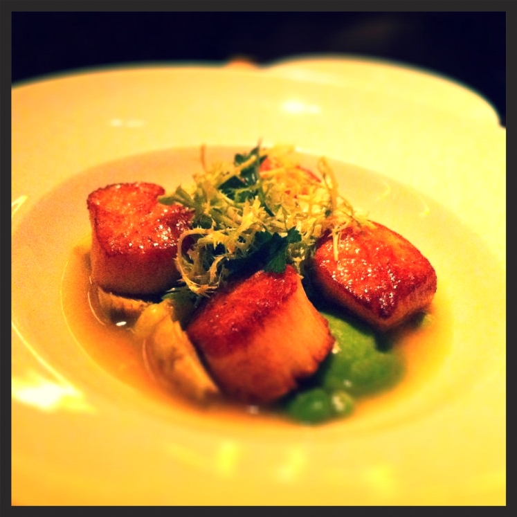 Seared scallop ravioli at Bourbon Steak | Yelp, Sara D.