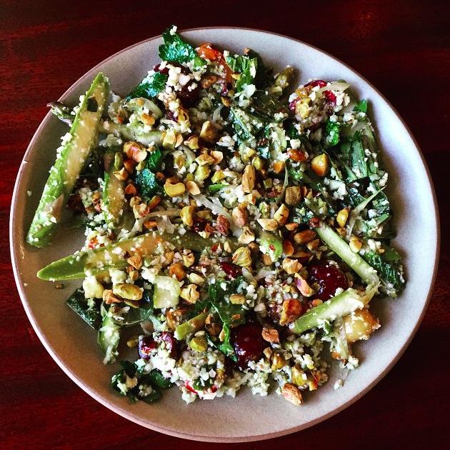 Cauliflower, asparagus, cherries & pistachios   Credit: Instagram, Ava Gene's