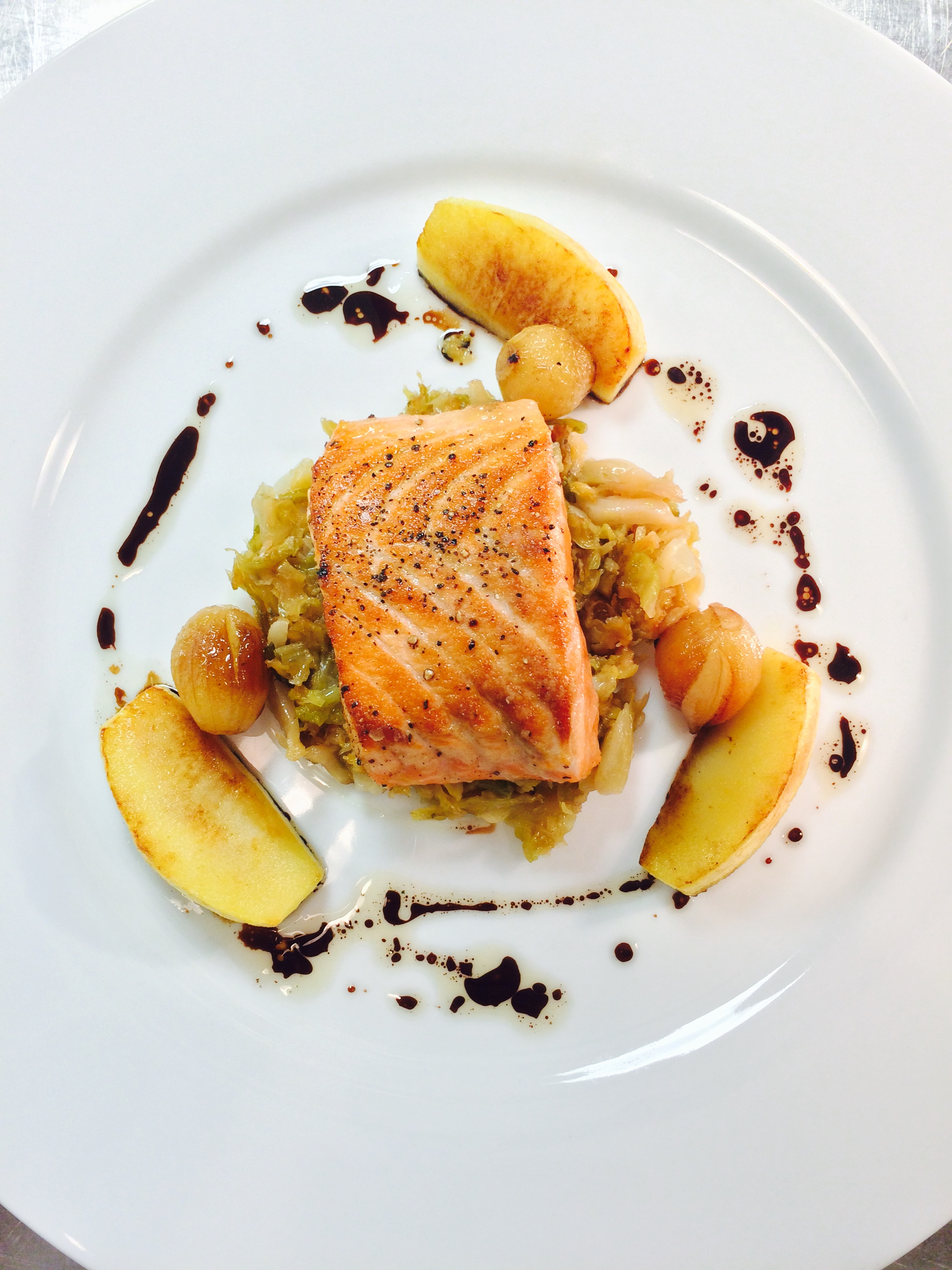 Salmon cabbage with apple  | Courtesy of Chef Sebastien Rondier