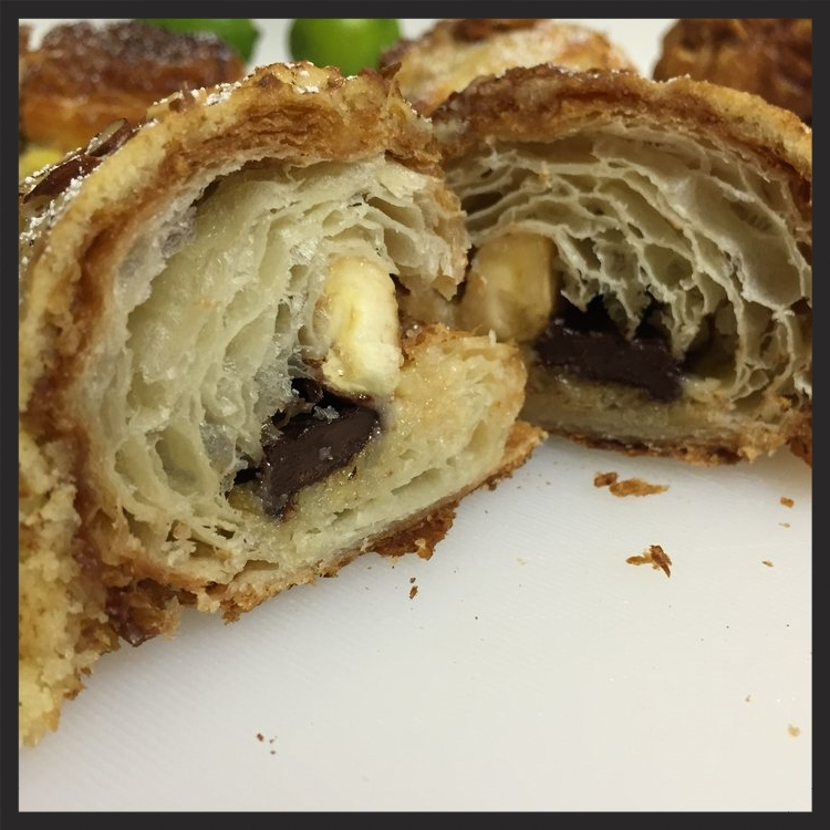 Chocolate banana almond croissant at b. patisserie  | Yelp, Jeremy N.
