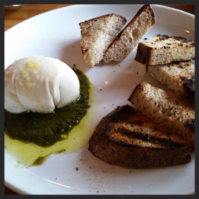 Burrata and Toast at Gold Cash Gold  |Yelp. Samantha J