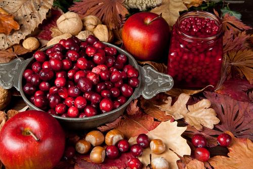 fall flavors cranberries apples leaves.jpg