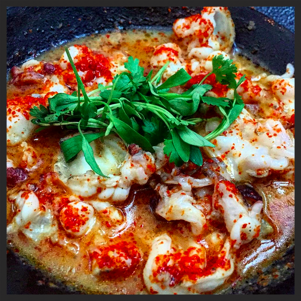 Jalapeño Octopus at barMASA  | Instagram, @mrfoodporn
