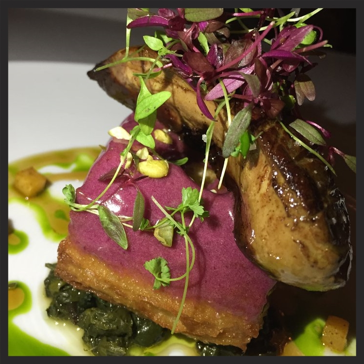 Seared foie gras over a concord grape cronut at The Forge  | Yelp, Brenda P.