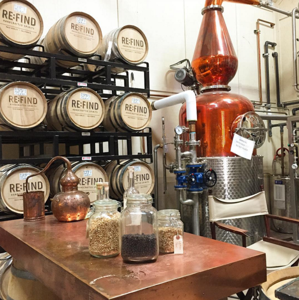 Inside Re:Find Distillery  | Instagram, @bierkast