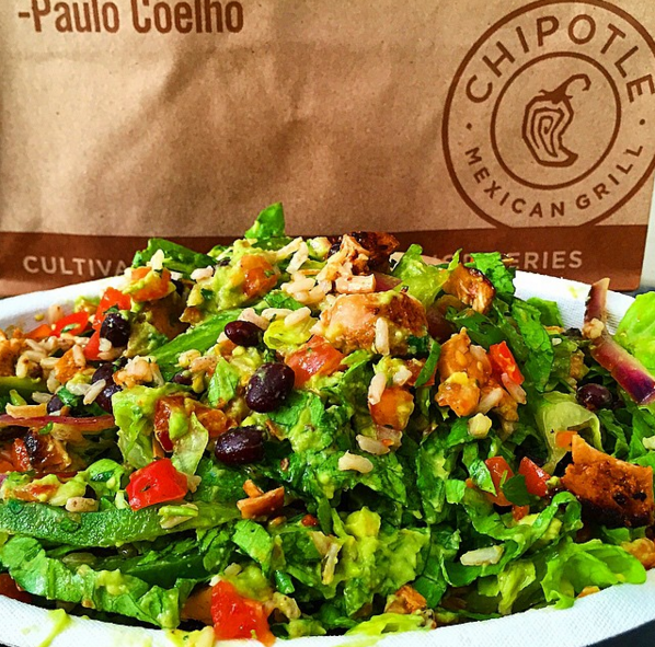 A burrito bowl from Chipotle  | Credit: Instagram @florida_foodie