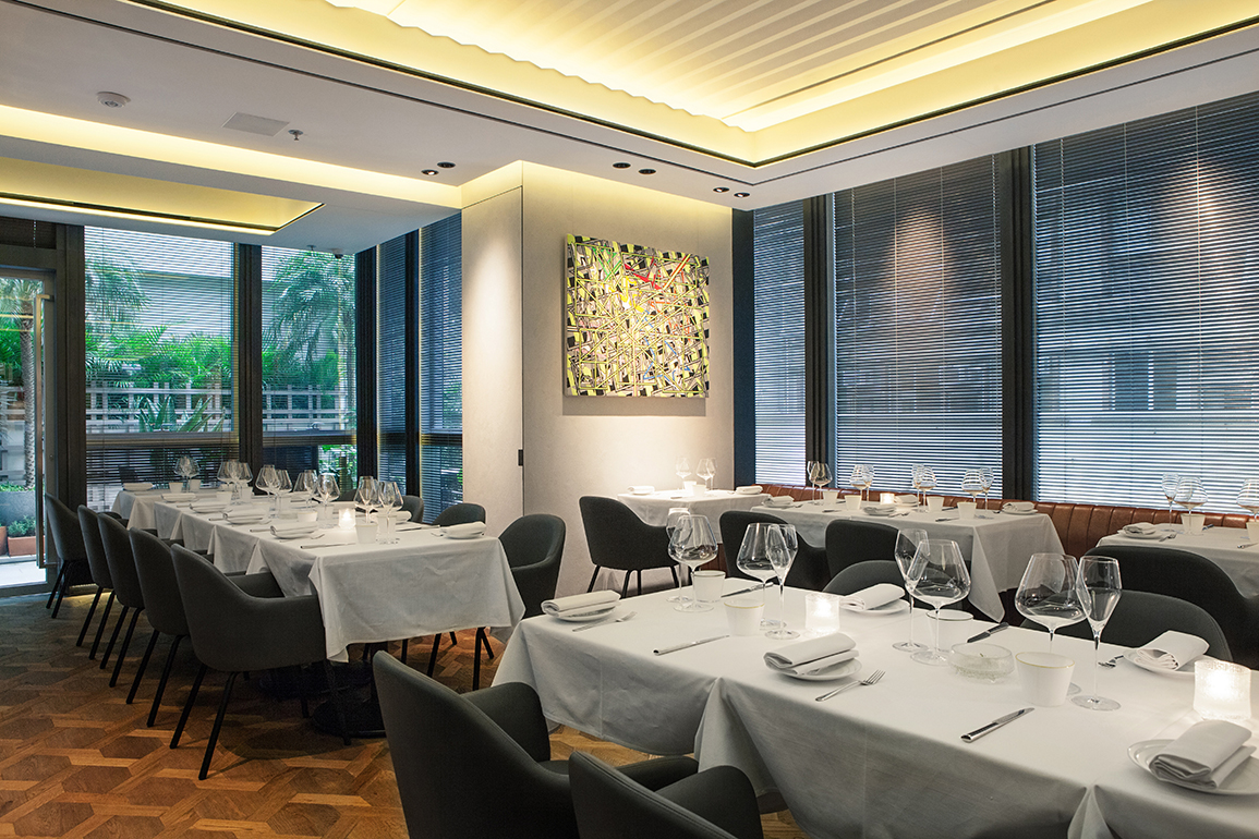 The dining room at Arcane in Hong Kong  | Credit: Arcane