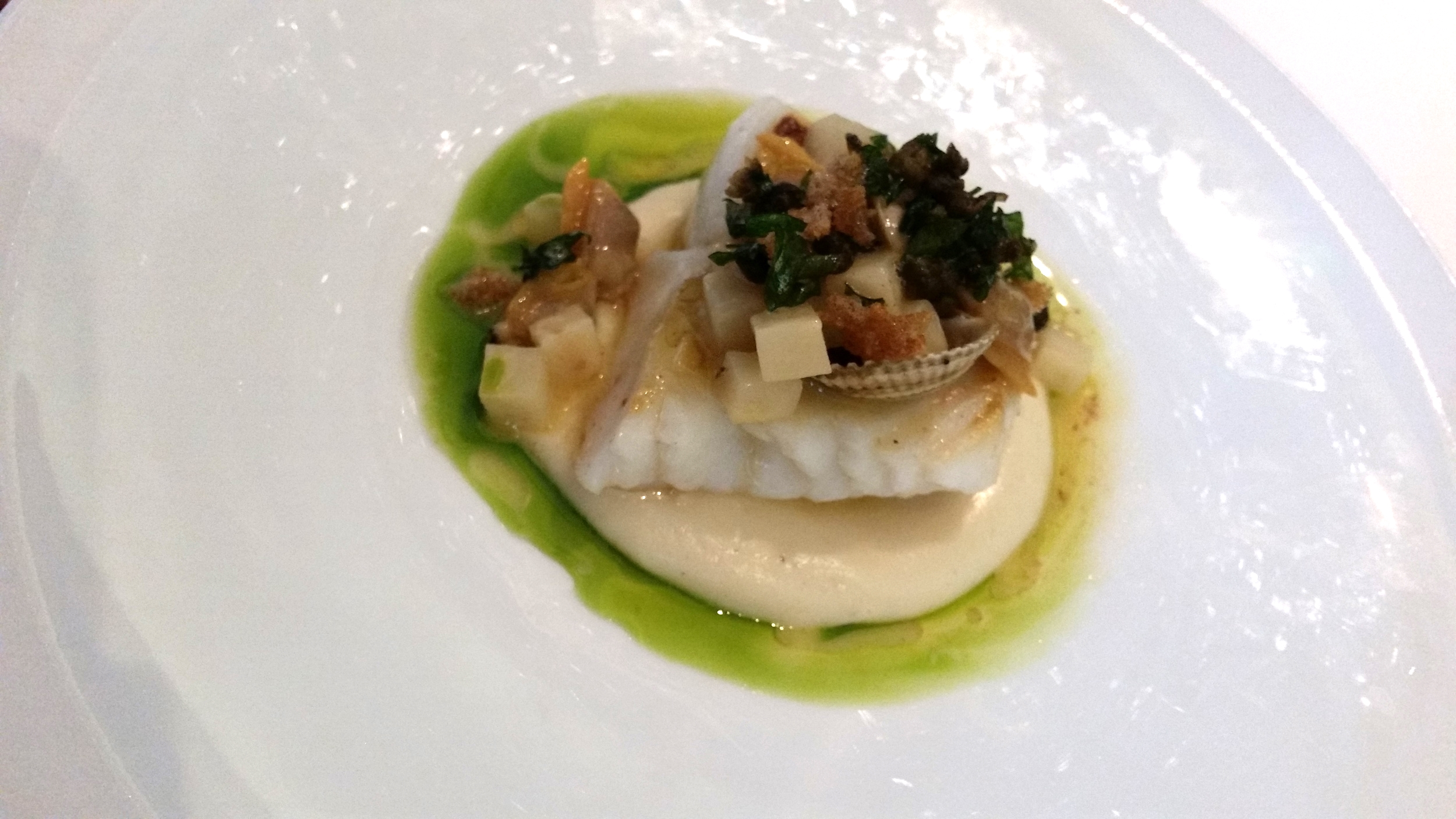 Sea Bass dish at Arcane |   Credit:  Erica Nonni for Foodable WebTV Network