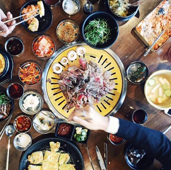A Korean BBQ spread at Hanjip  | Instagram @hanjipbbq