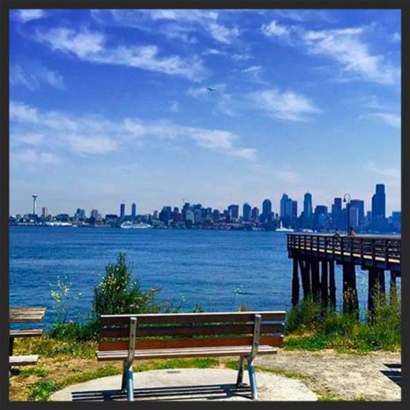 The view at Marination Ma Kai's West Seattle brick-and-mortar makes it an iconic location  | Instagram @curb_cuisine