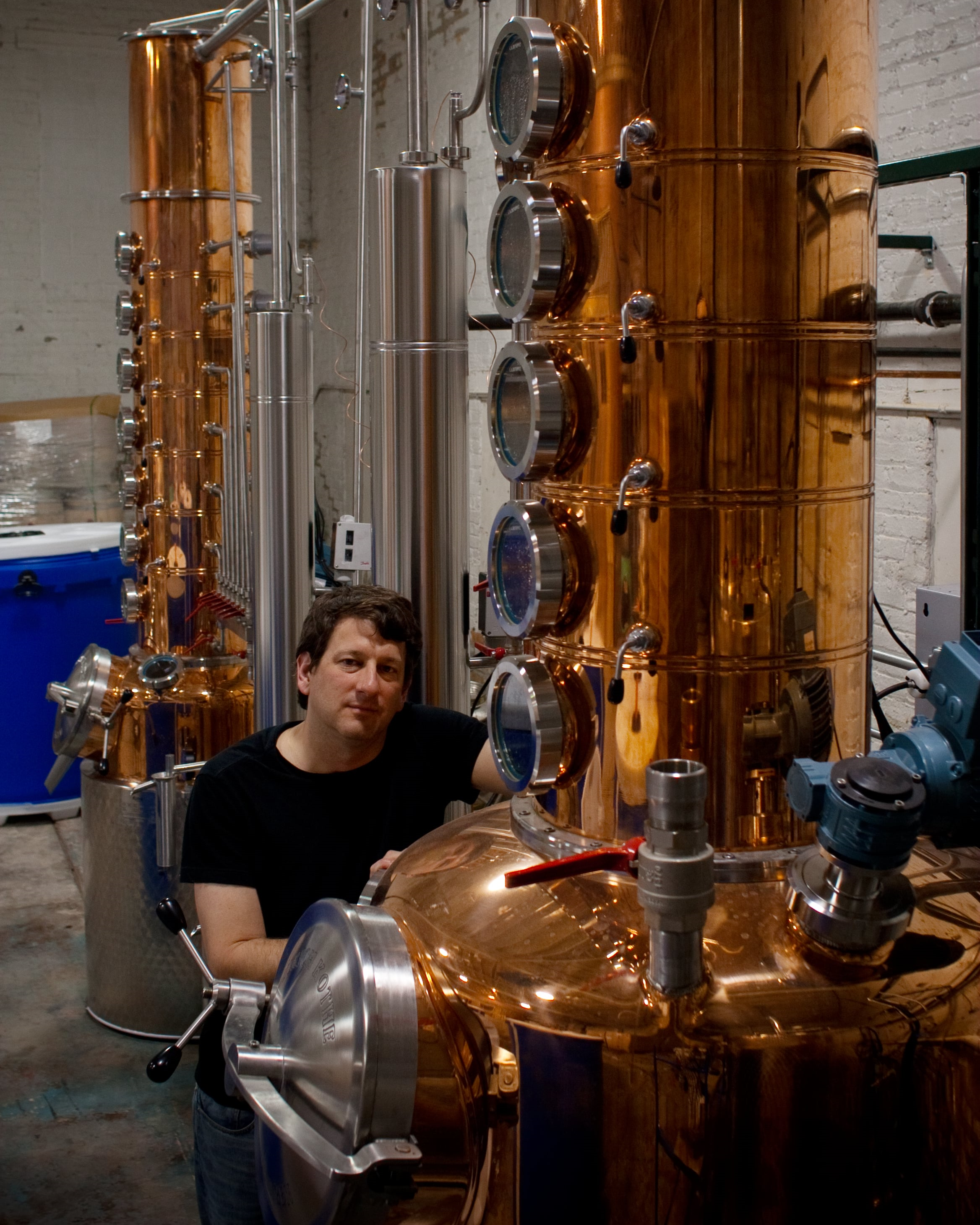 Paul Hletko at the distillery  | Courtesy of FEW Spirits