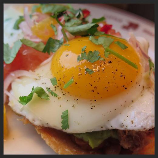 Carnitas tostadas at Little Goat Diner  | Instagram  @littlegoatdiner