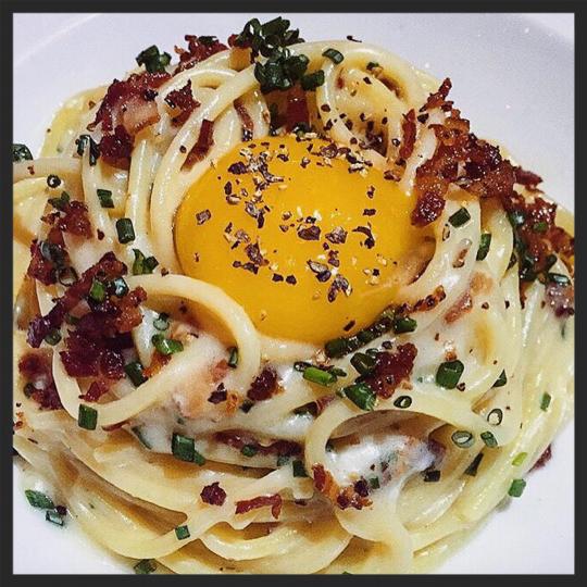 Carbonara at RPM Italian  | Instagram @mallorykorol