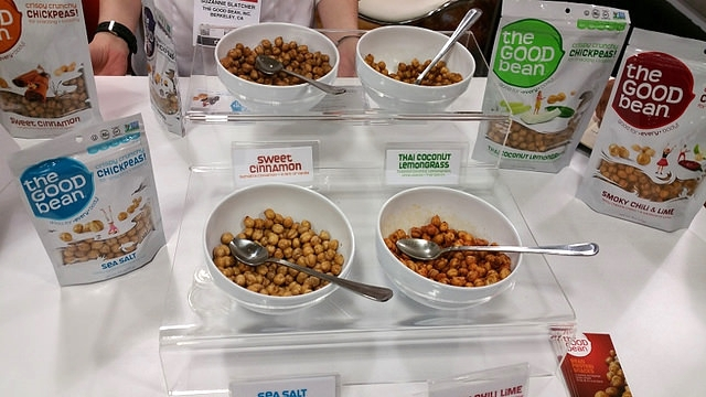 The Good Bean turns roasted chickpeas into a healthy snack with a variety of flavors     Allison Levine for Foodable Network