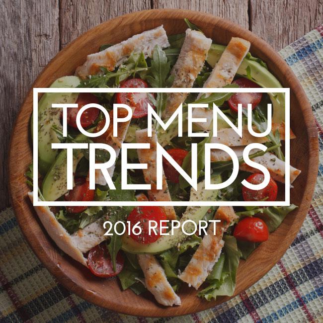 2016 Top Menu Trends