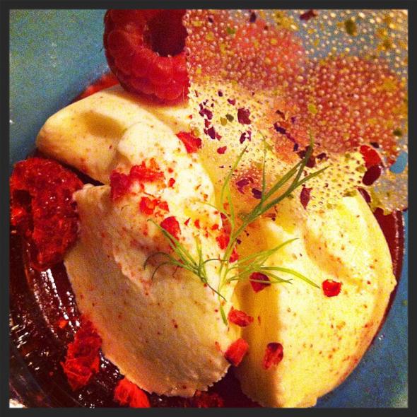 Rose and raspberry bhapa doi at Benares Restaurant  | Credit: Instagram @benaresofficial