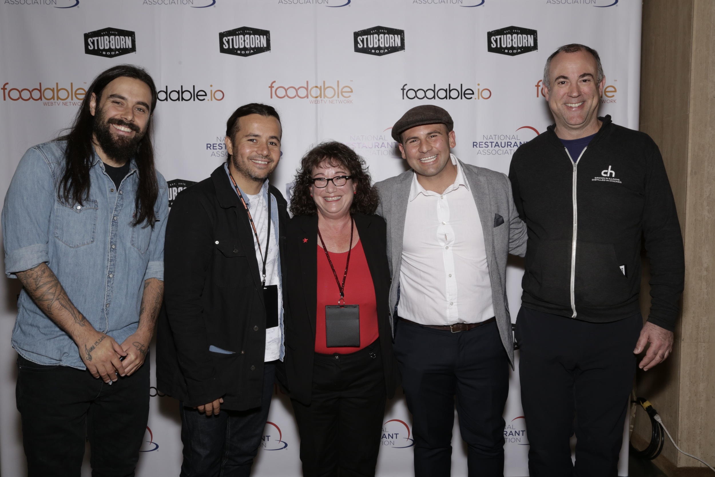 "Left to Right: Elad Evi (Bar Lab, Co-Founder); Gabriel Orta (Bar Lab, Co-founder); Linda Duke (Duke Marketing, CEO/Founder); Nick Liberator (The Venice Whaler, Chef and Expert on ""The Bar Rescue""); and Tremaine Atkinson (CH Distillery, Managing Director of Operations/Co-founder)"