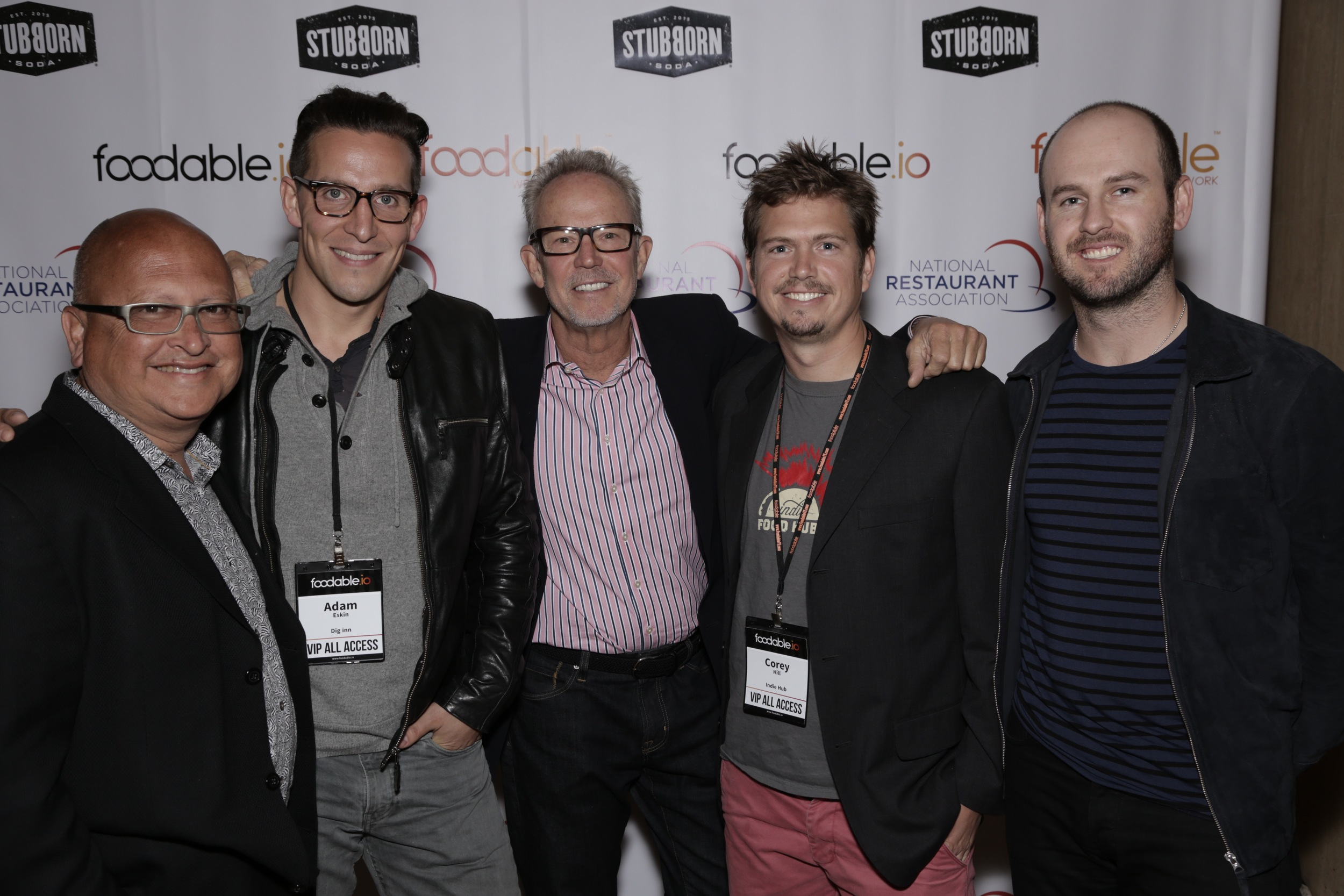 Left to Right: Fred LaFranc (Results Thru Strategy, CEO/Founder), Adam Eskin (Dig Inn, founder); Greg Dollarhyde (Fast Fasual Pioneer with Veggie Grill and Baja Fresh); Corey Hill (Indie Food Hub, CEO/Founder); and Michael Williams (Wine 'n Dine, Director of Product)