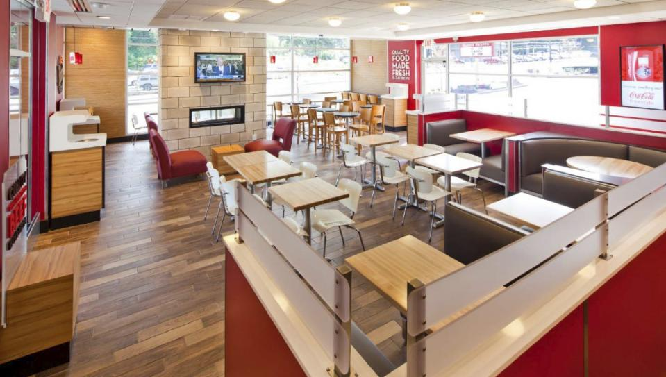 Wendy's revamped interior |  Wendy's