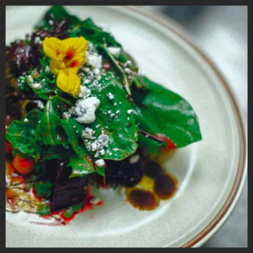 Artistic salad from 27 Restaurant & Bar    Instagram @27resturant