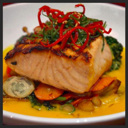 Salmon at The Dutch    Instagram @miamifoogpug