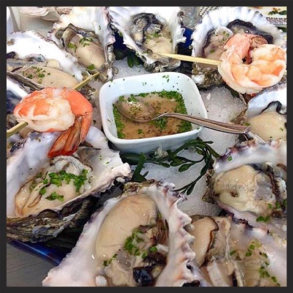 Oysters at Andiron Steak & Sea  | Instagram @andironsteak