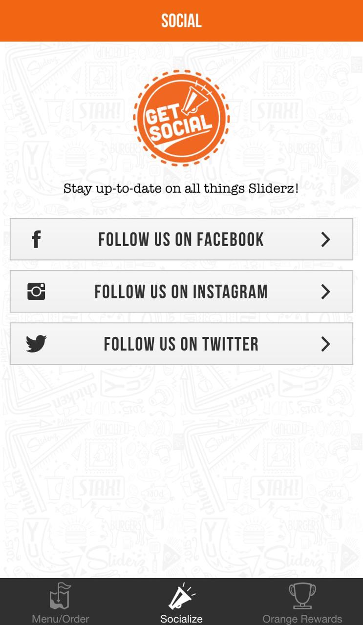 Screenshot of the new Sliderz app