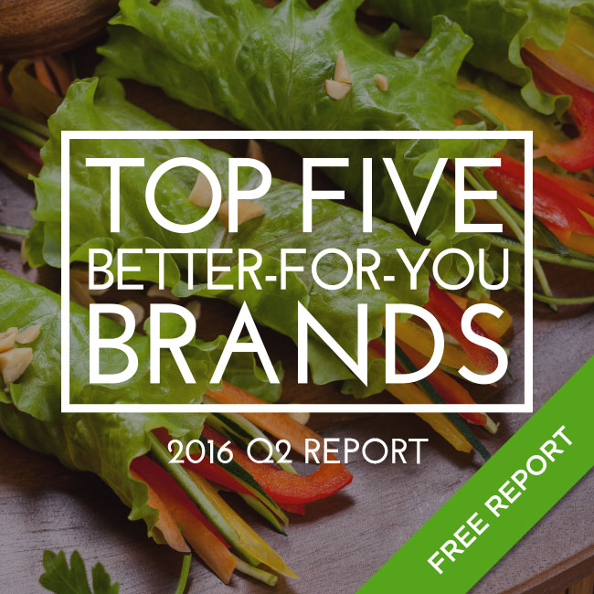 2016 Top Five Better-For-You Brands
