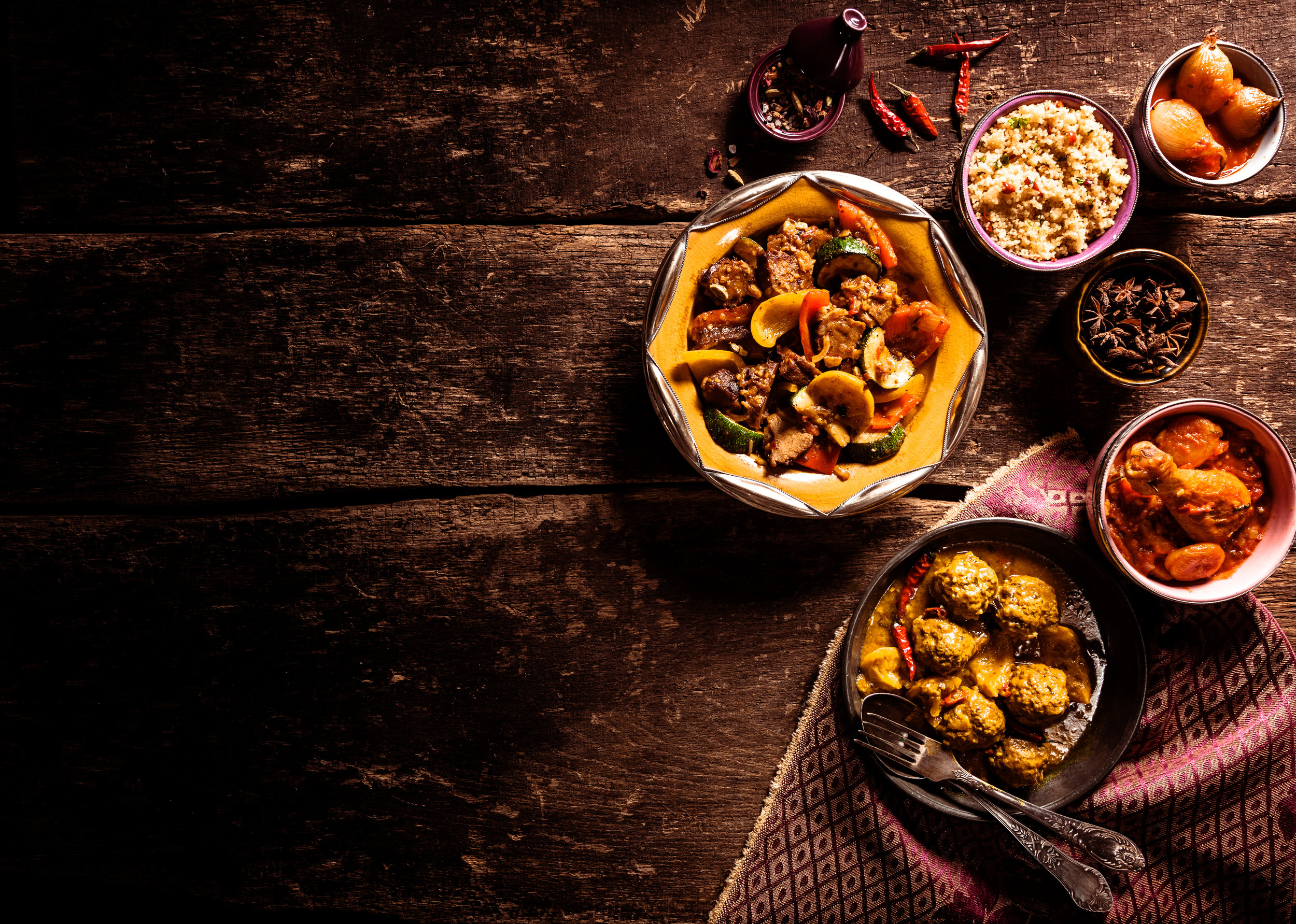 Global fusion flavors are popular in restaurants