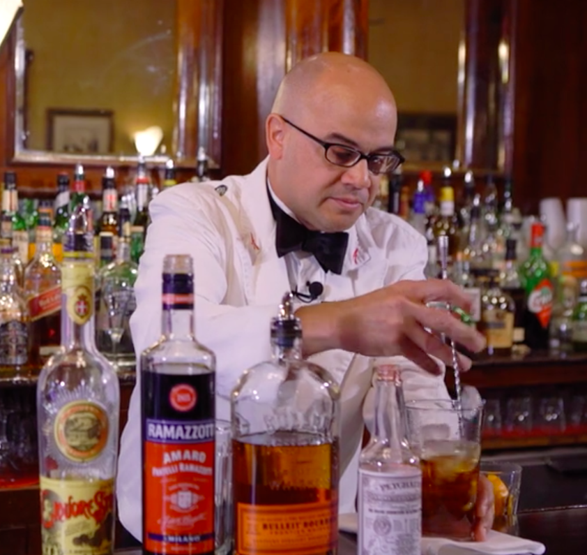 Head bartender of French 75, Chris Hannah works his magic on an Across the Bar episode |  Foodable Network