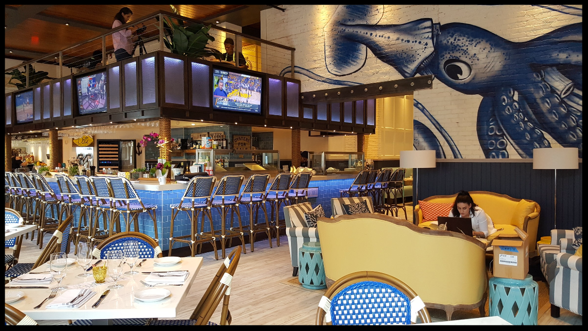 interior of the new Izzy's Fish and Oyster