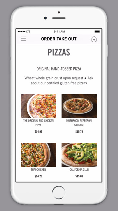 Screenshot of CPK Pizza Dough® Rewards Mobile App |  California Pizza Kitchen