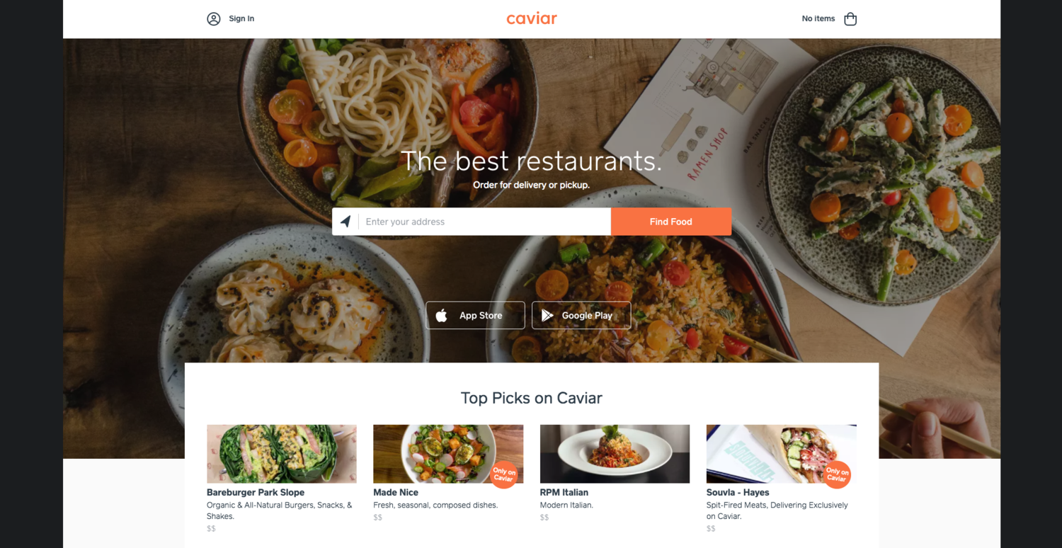 Square's Caviar Is Another Food Ordering Service Player in