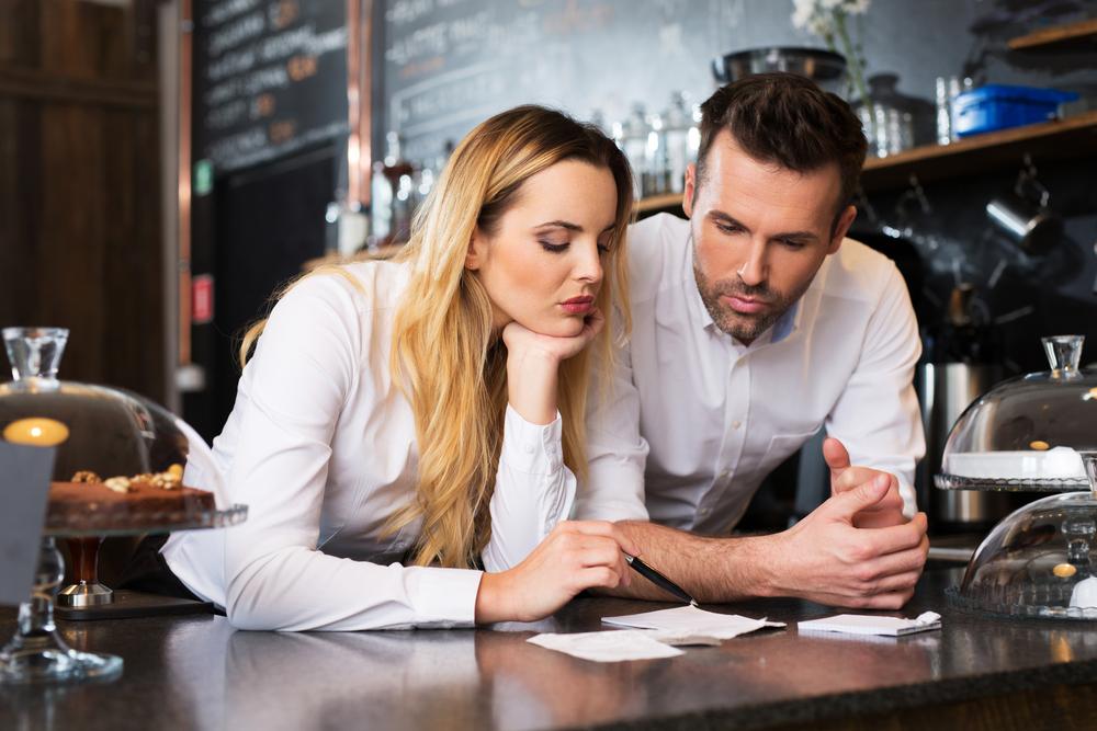 restaurant employees talking