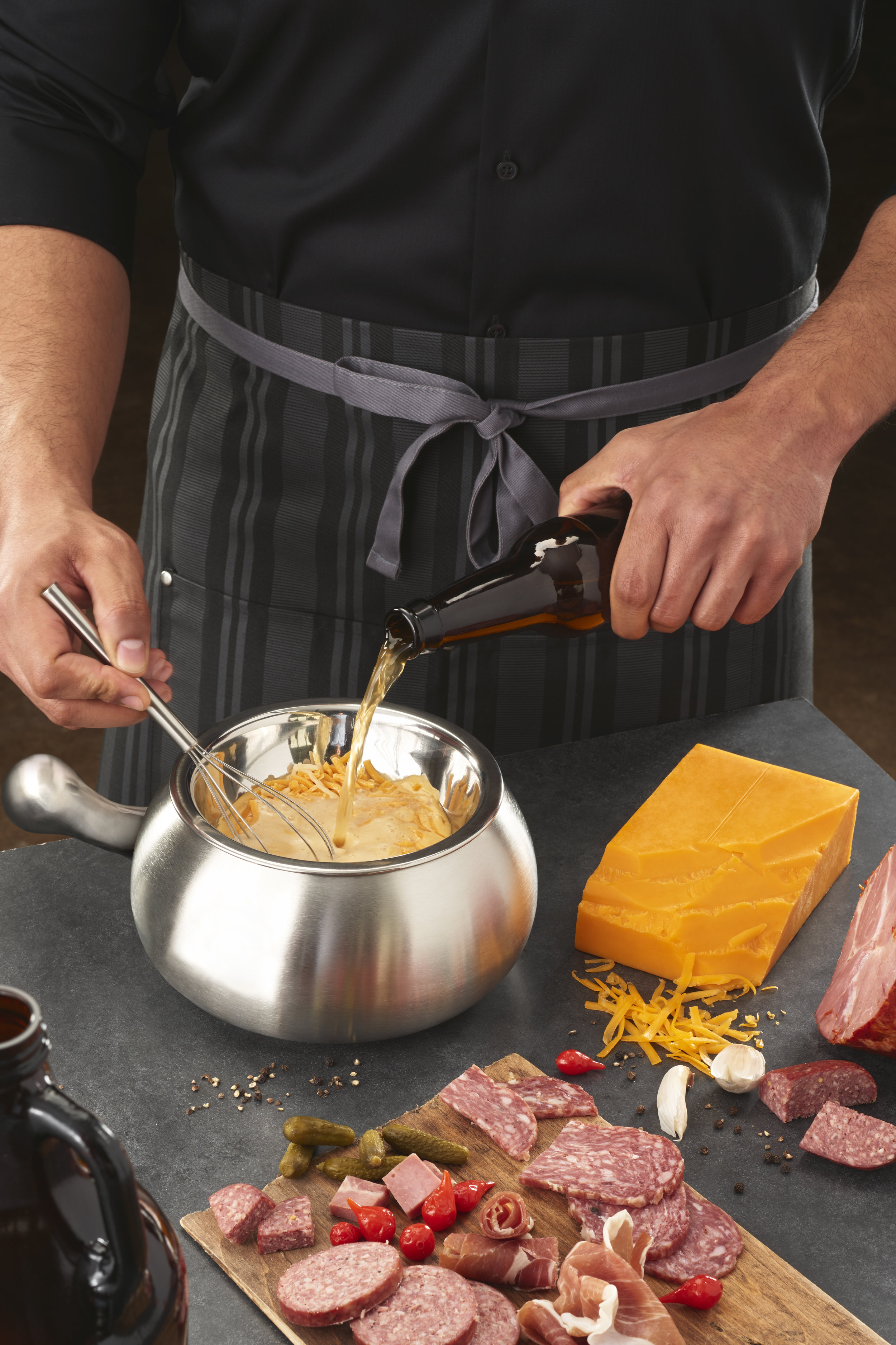 Craft Your Own Cheddar Cheese Fondue