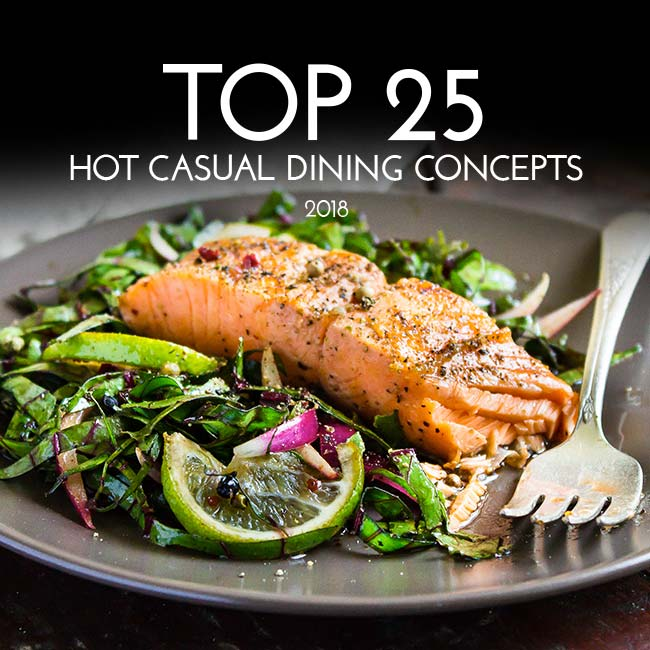 Top 25 Hot Casual Dining Concepts of 2018