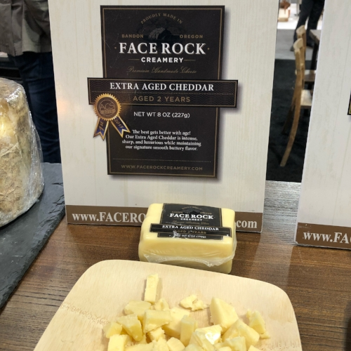 Face Rock Creamery Extra Aged Cheddar at the 2018 Summer Fancy Food Show |  Foodable Network