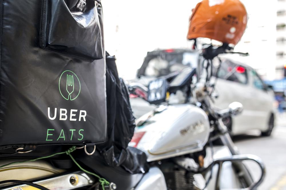 UberEats delivery bike