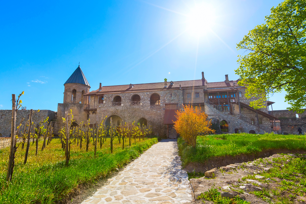 Alaverdi orthodox monastery and vineyard in Kakhetia region in Eastern Georgia |   Shutterstock