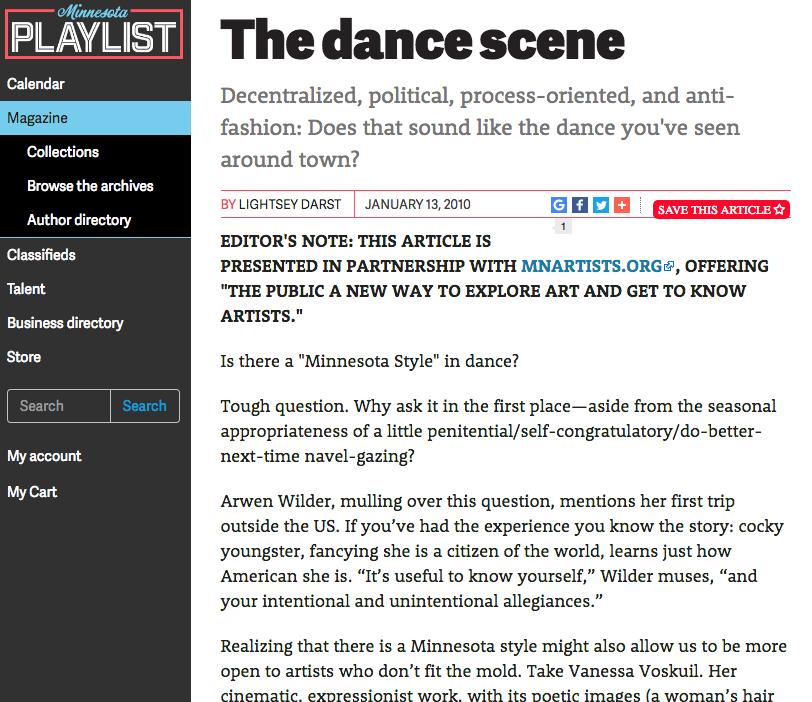 Minnesota Playlist.com The Dance Scene.png