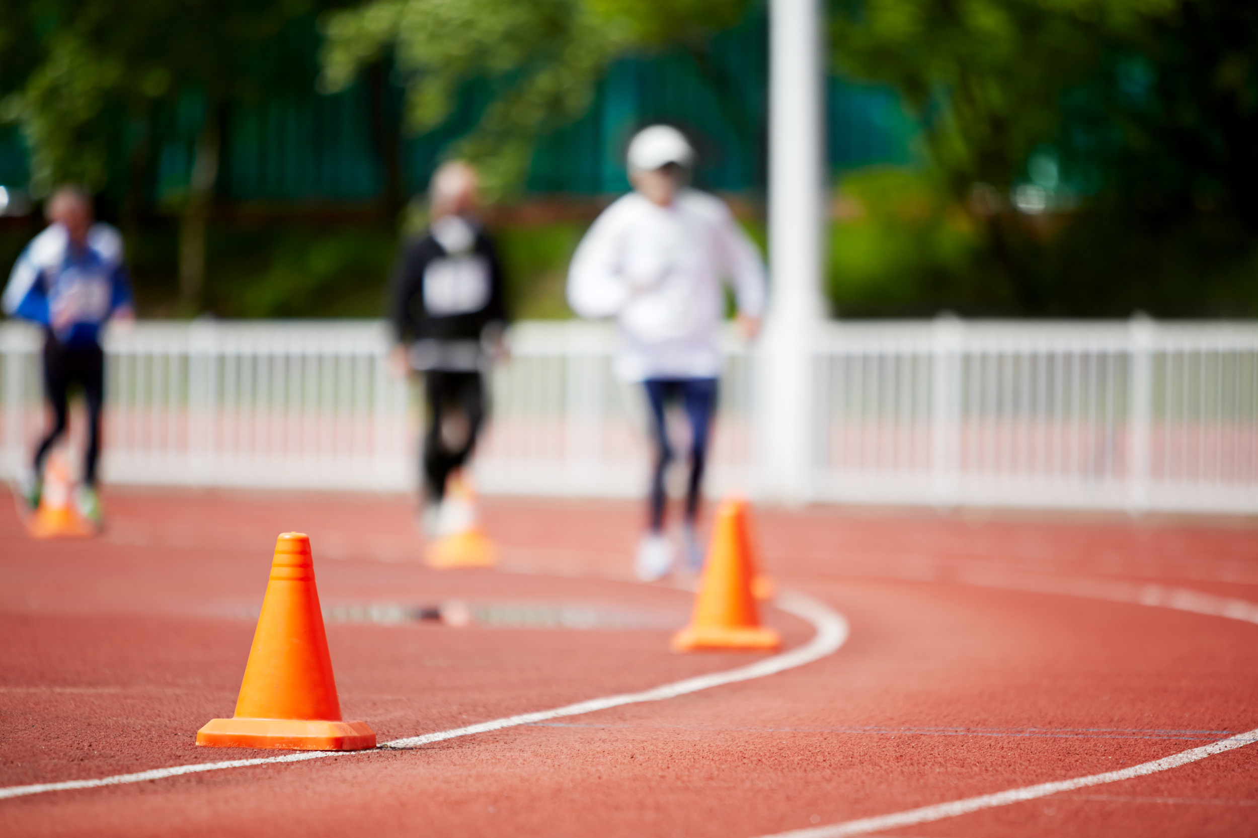 Focusing on an object while you're walking or running--like cones on the street, or a building a few blocks away--can make exercise seem a little easier.