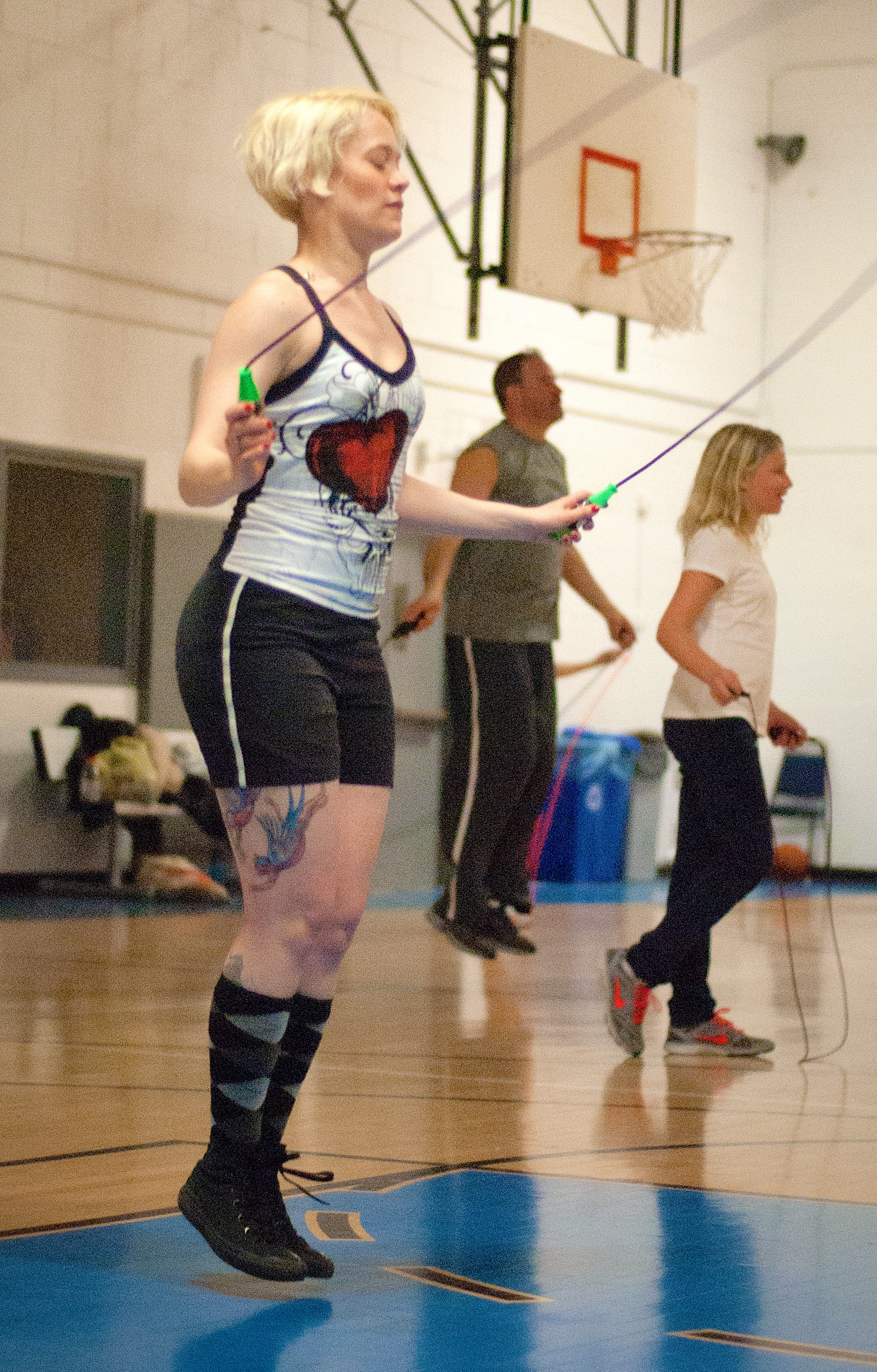 People at a Punk Rope class.