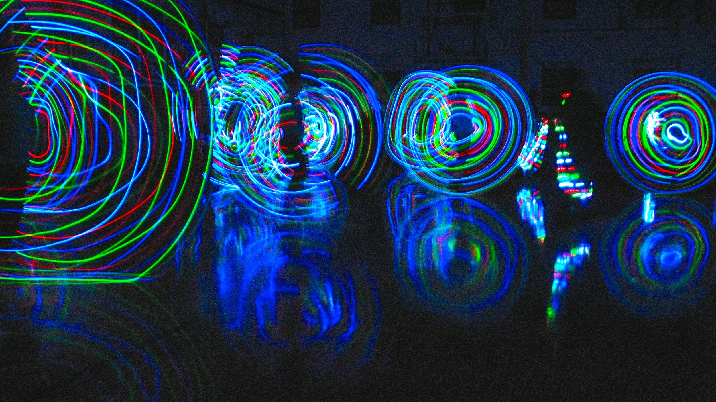 A special Punk Rope fundraiser at the Greenpoint YMCA in Brooklyn with light-up jump ropes.