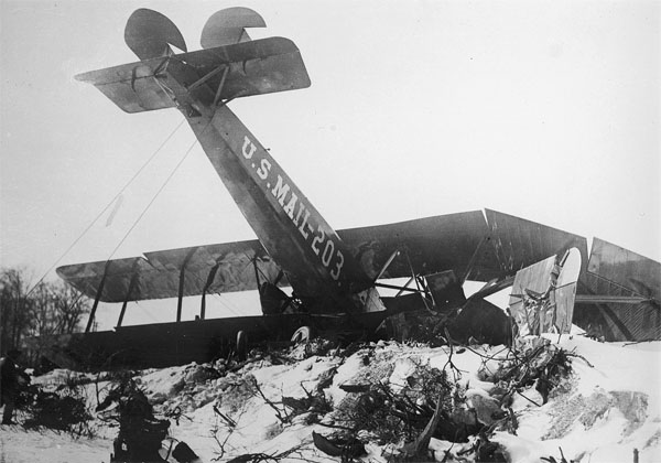 Martin MP No. 203 was severely damaged at Heller Field, NJ n1920.  Photo: Editor's Collection