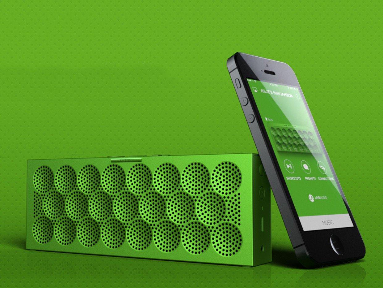 Mini Jambox with the Jawbone companion app